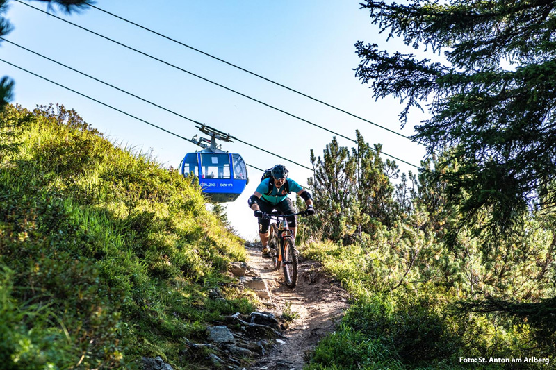 Mountainbiken am Arlberg