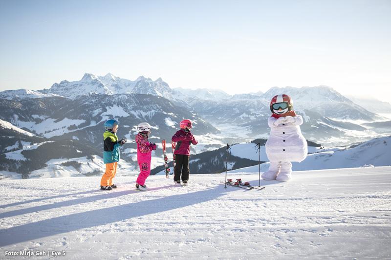 Auch für Kinder ein riesen Erlebnis Skifahren mit dem Maskottchen Valle