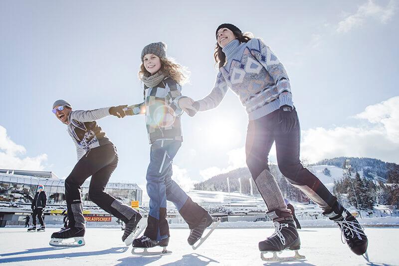 Eislaufen und Eisschießen