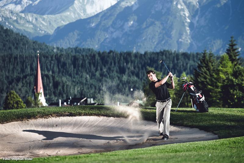 Golf Abschlag - Anlage Seefeld-Reith