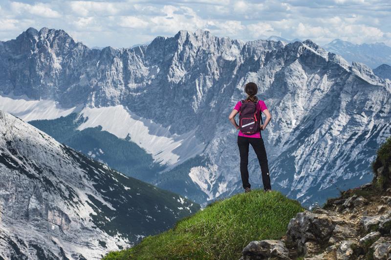 Ausblick im Naturpark Karwendel