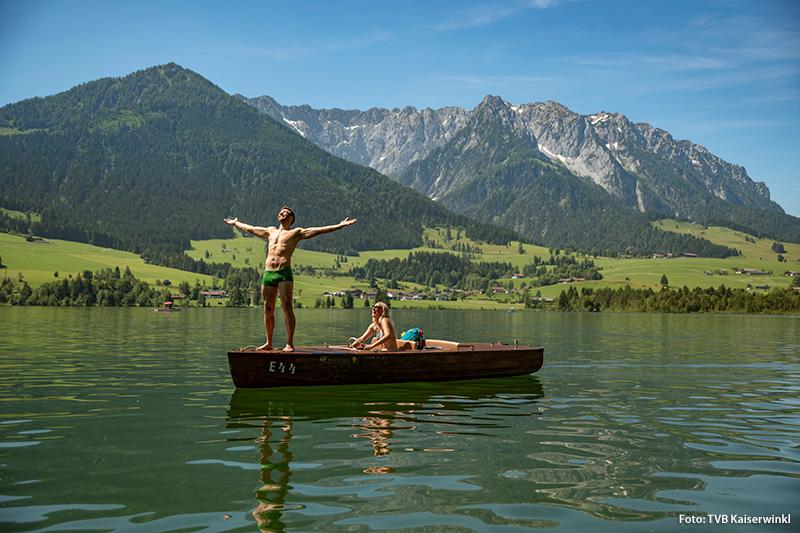 Nicht nur Kinder und Familien freuen sich über die Bäder und Seen der Kitzbüheler Alpen in Tirol