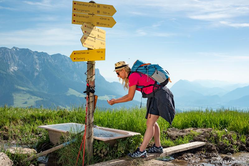 Wandergebiet um St. Johann in Tirol zwischen Kitzbüheler Horn und Wilder Kaiser