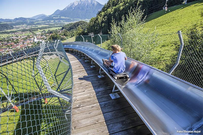 Sommerrodelbahn in Oberaudorf mit 360 Grad Kreisel