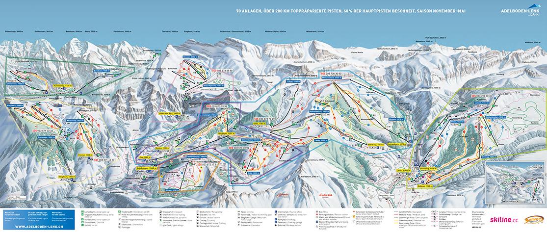 Pistenplan Adelboden-Lenk