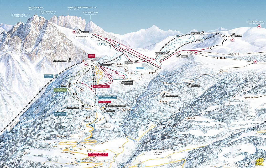 Pistenplan Meran 2000