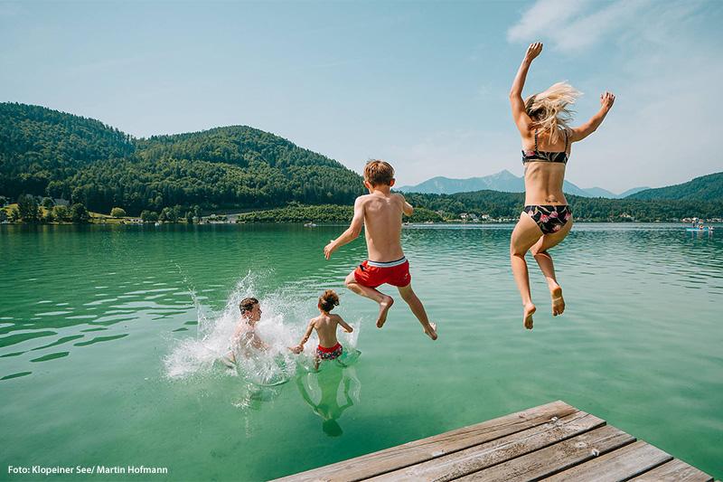 Familienurlaub am wärmsten See Europas