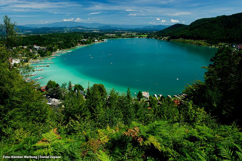 Der wärmste Badesee Europas: Klopeiner See