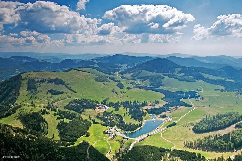 Almenland Panorama mit Teichalmsee