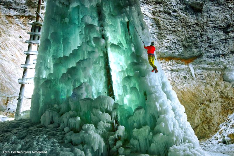 Eisklettern in Breitenau