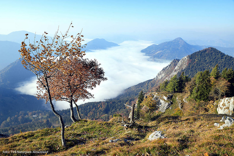 Naturpark Almenland mit Nebelmeer