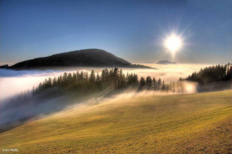 Nebel im Herbst Almenland