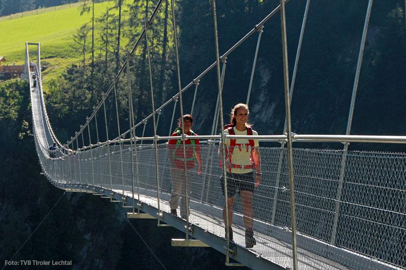 Hängebrücke bei Holzgau im Lechtal