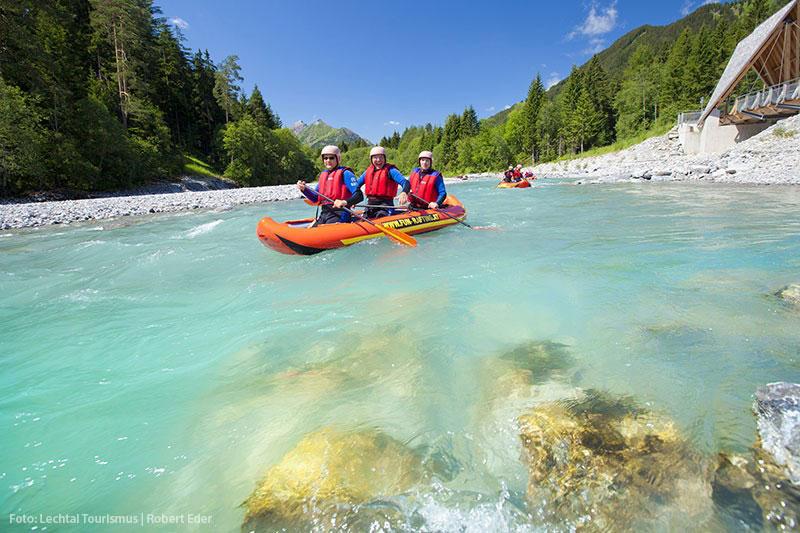 Kanufahren am Tiroler Lech