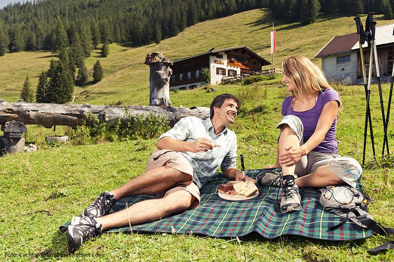 Picknicken im Lechtal