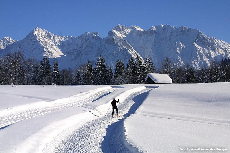 Langlaufen Alpenwelt Karwendel - Christoph-Schober-Loipe