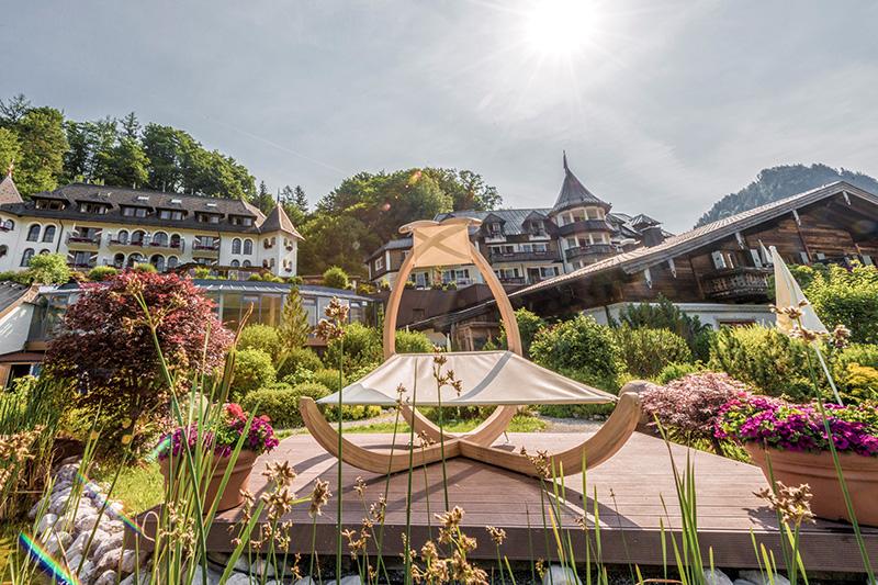 Gütl-Garten zwischen Solebecken und Relaxpool