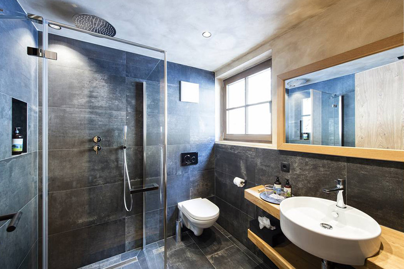 Badezimmer im Romantik Chalet