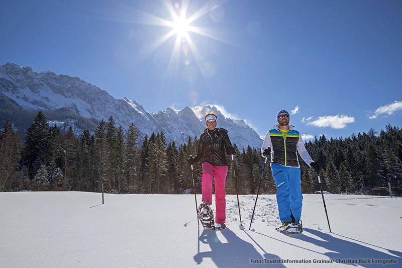 Geführte Schneeschuh-Touren im Zugspitzdorf Grainau