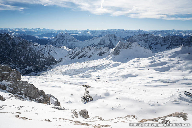 Gletscherbahn auf der Zugspitze