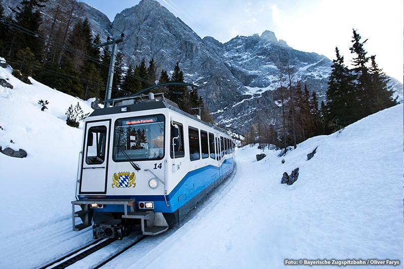 Tipp: Mit der Zahnradbahn auf die Zugspitze