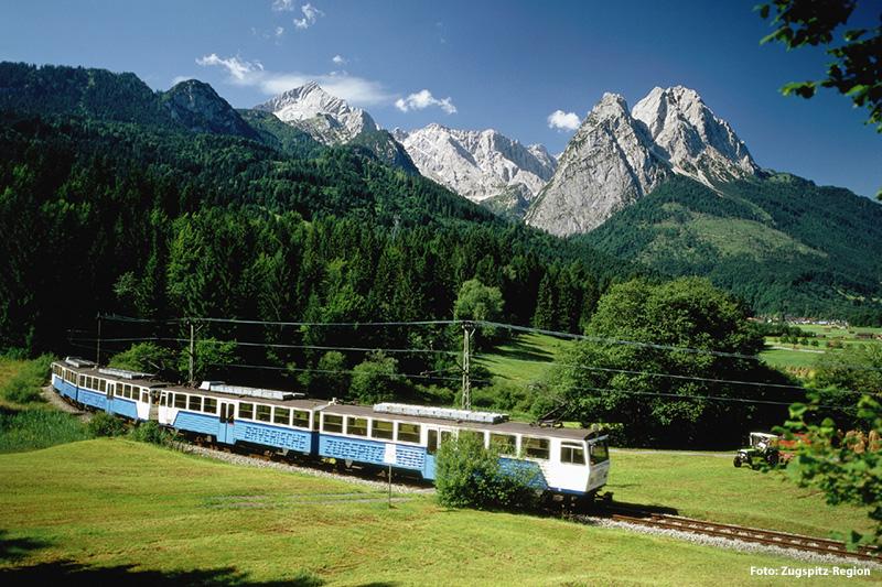 30 Min. zur Talstation der Zugspitzbahn in Grainau