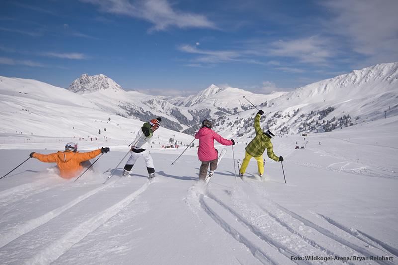 Das Skigebiet Wildkogel-Arena ist ein Paradies für Familien, Anfänger und Wiedereinsteiger und bietet 75 Pisten-km