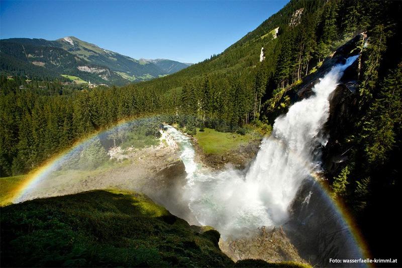 Krimmler Wasserfälle (Fallhöhe: 385 m)