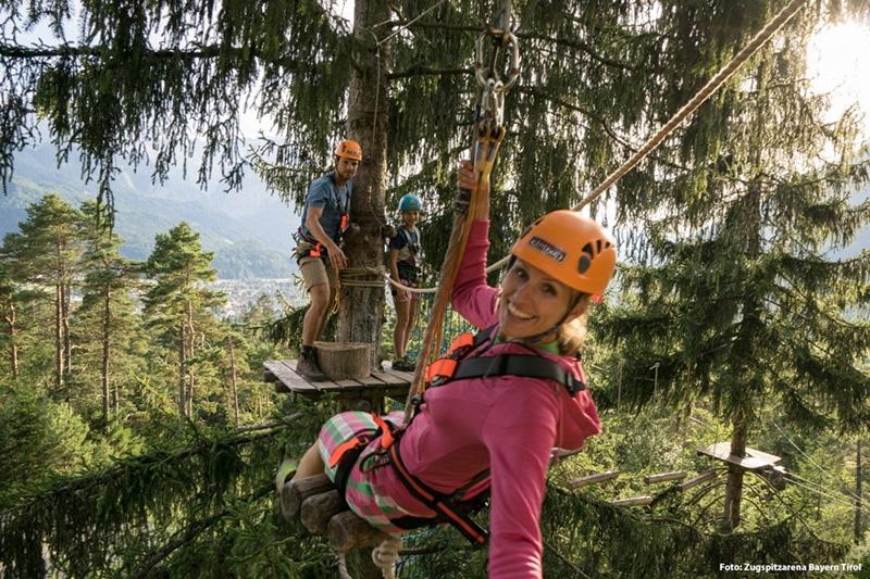 Kletterwald in Garmisch-Partenkirchen