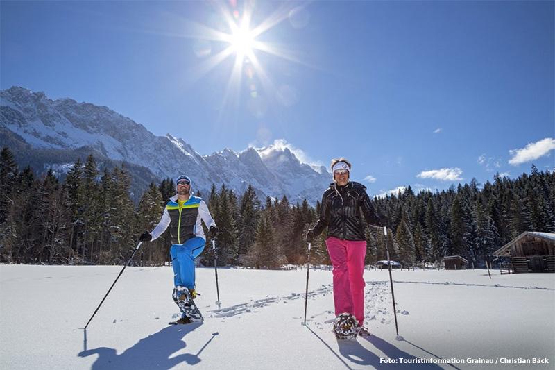 Schneeschuhwandern in der Zugspitzregion