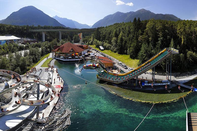 Action im größten Outdoor-Freizeitpark in Österreich: AREA 47 im Tiroler Ötztal nur 15 Minuten vom Hotel entfernt