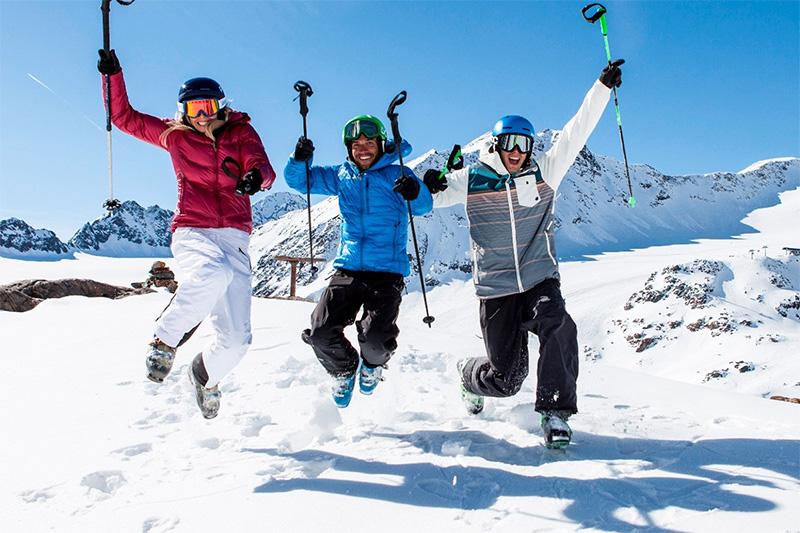 Die Skigebiete im Pitztal sind perfekt für Könner, Kenner und Anfänger