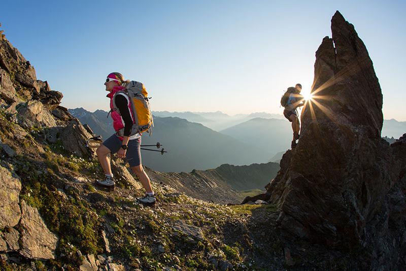 Klettern am Hohen Gemeindekopf (2771m) - In Pitztal hat man viele Möglichkeiten: Sportklettern, Klettern mit Kindern, Klettersteige, Bouldern, Kletterstadl Stillebach sowie im XP Abenteuerpark in Jerzens