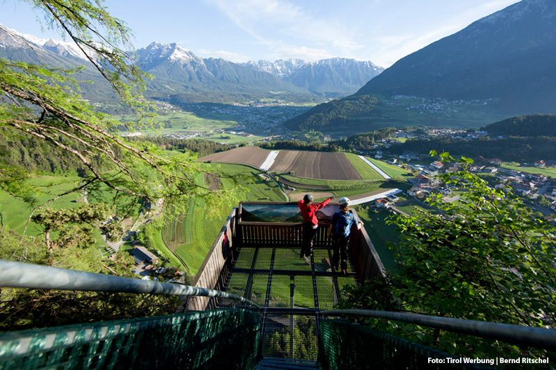 Steinwand - Klettersteig bei Arzl im Pitztal (880 m) nur 7 Minuten mit dem Auto entfernt