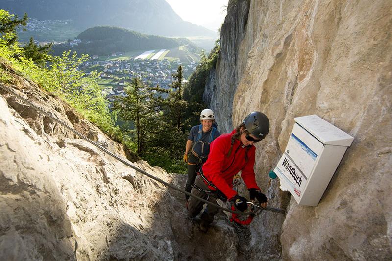 Kletterwand Arzl - Pitztal in Tirol eignet sich vor allem für Einsteiger oder Sportler