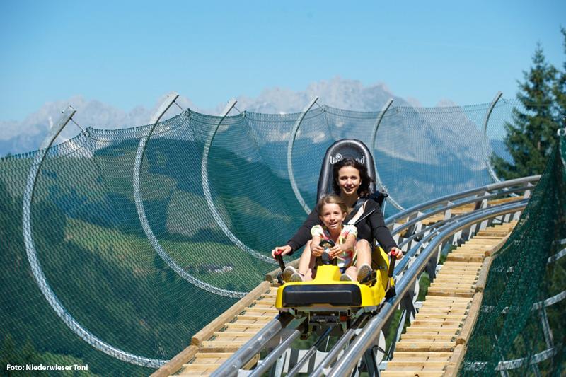 Coaster auf Timoks Alm (1.160 m) in Fieberbrunn