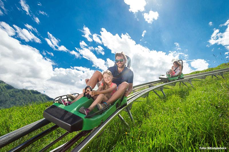 1,3 km langer Alpine Coaster Maisiflitzer in Kaprun