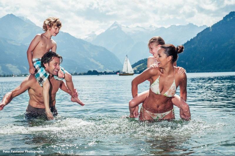 Wassererlebnisse in Zell am See-Kaprun sammeln: Strandbäder, Schwimmen, Segeln, Surfen & Wassersport, Schifffahrt, Stand-Up-Paddelling, Angeln & Fischen, Canyoning, Rafting, Kajaking