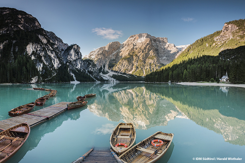 Bei den geführten Ausflügen des Hotel Bergschlössl in Lüsen immer dabei: Der Pragser Wildsee