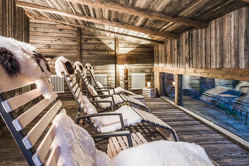 Einer der Ruheräume im Vitalpina & Naturidyll Hotel Bergschlössl in Lüsen