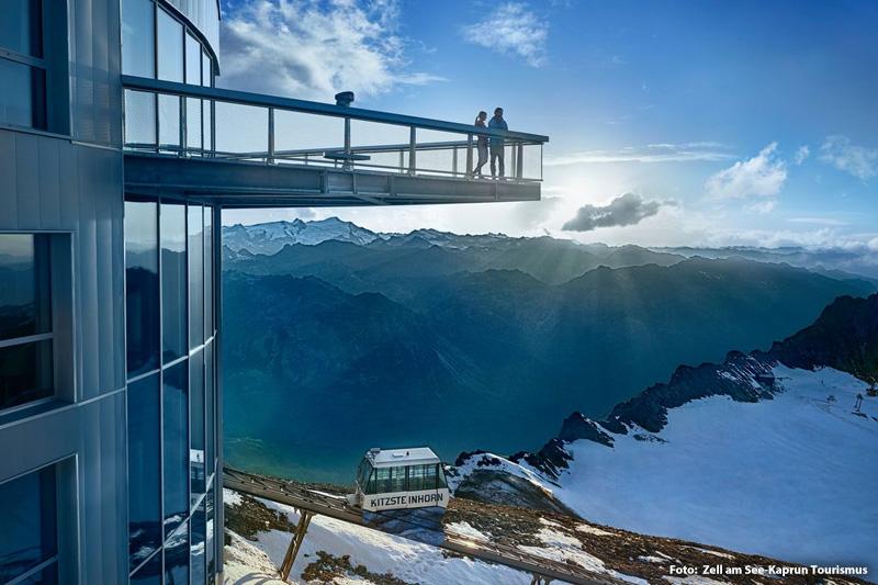 Panorama-Plattform auf über 3.000 Metern Seehöhe
