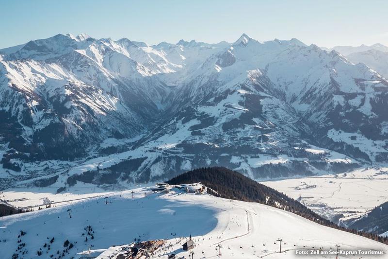 Ein atemberaubender Panoramablick im Skigebiet Schmittenhöhe