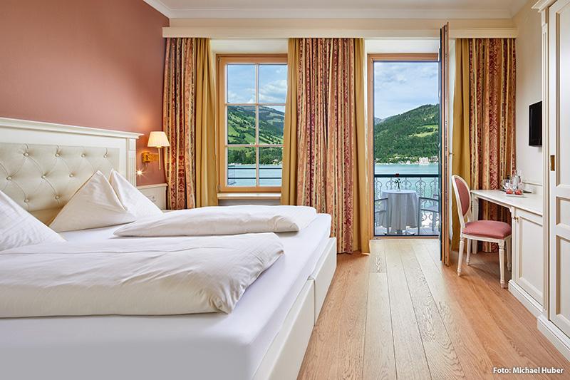 Wähle zwischen Doppelzimmer, Familienzimmer und Suiten