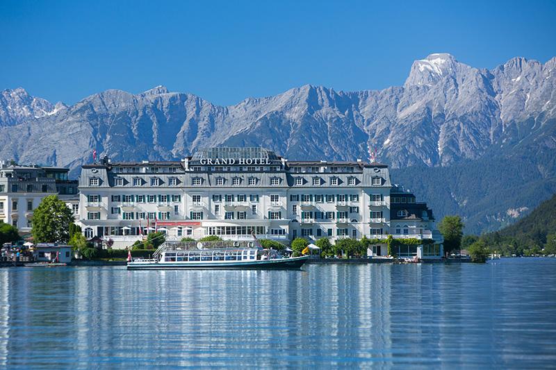 Sommerurlaub im Grand Hotel Zell am See eingerahmt von den majestätischen Dreitausendern des Salzburger Landes