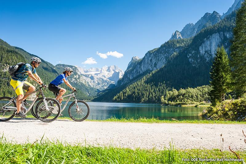 E-Mountainbiken am Gosausee