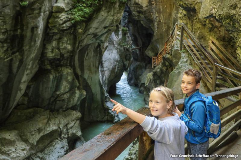 Wanderung durch die Lammerklamm in Scheffau