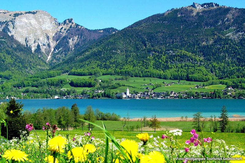 Der Wolfgangsee verbindet die Länder Salzburg und Oberösterreich und bildet zugleich das Westtor des Salzkammerguts
