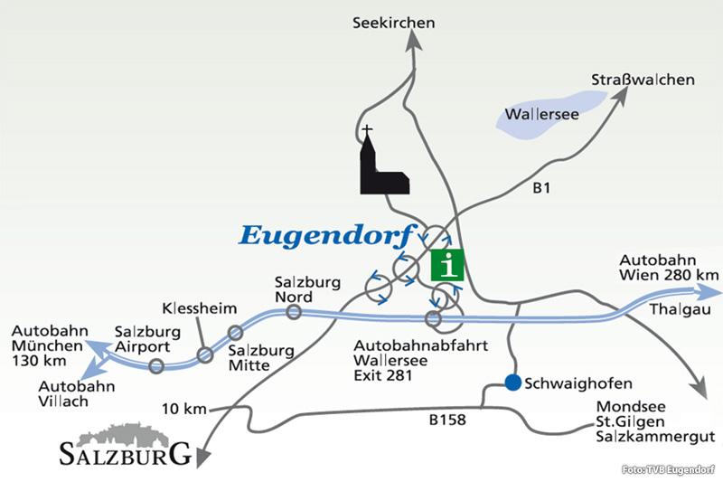 Überblickskarte Eugendorf