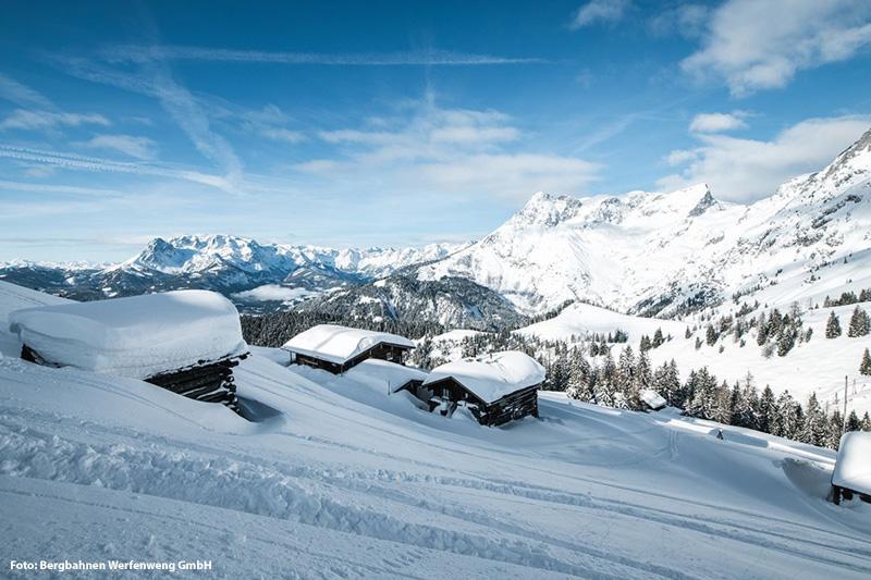 Skigebiet Werfenweng (29 Pisten-km) erreichst Du in 50 Autominuten