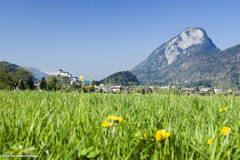 Ansicht auf die Festung Kufstein